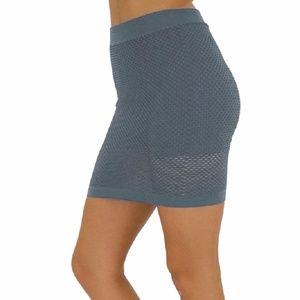 Dresses & Skirts - Women's New Grey Sleek Sexy Fishnet Skirt with Lin